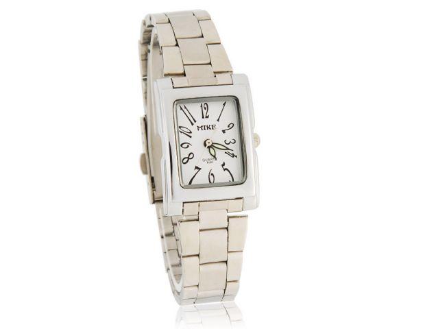 Unisex hodinky Mike Square bílé f846551369e