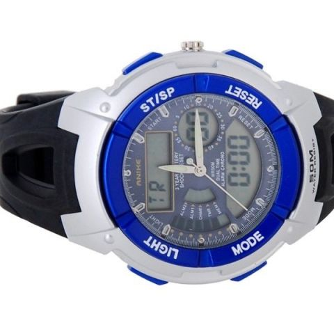 Sportovní hodinky Anike Round modré d5ae1e6f4e
